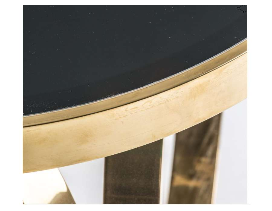 Petite table basse ronde art deco chic Vical Home