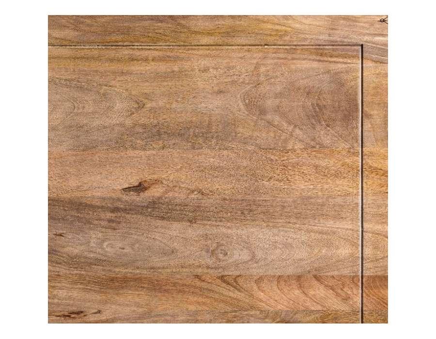 Table basse baroque noire bois noble pieds boules
