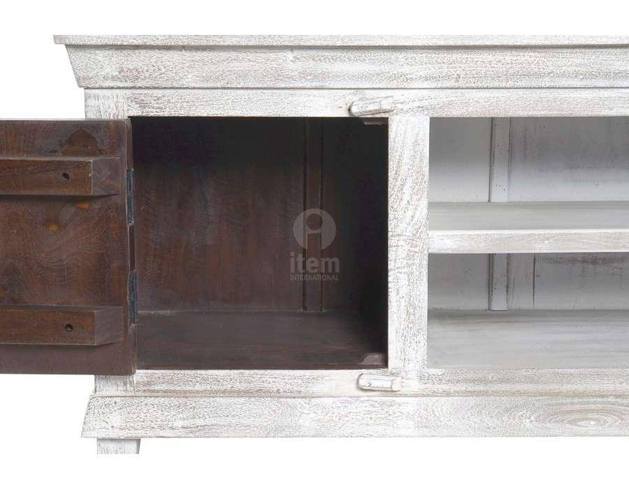 Meuble télé sculpté sur les 2 portes