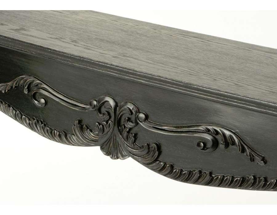 Console baroque noire satinée