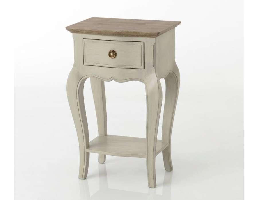 Table de nuit baroque beige grisé Maddy