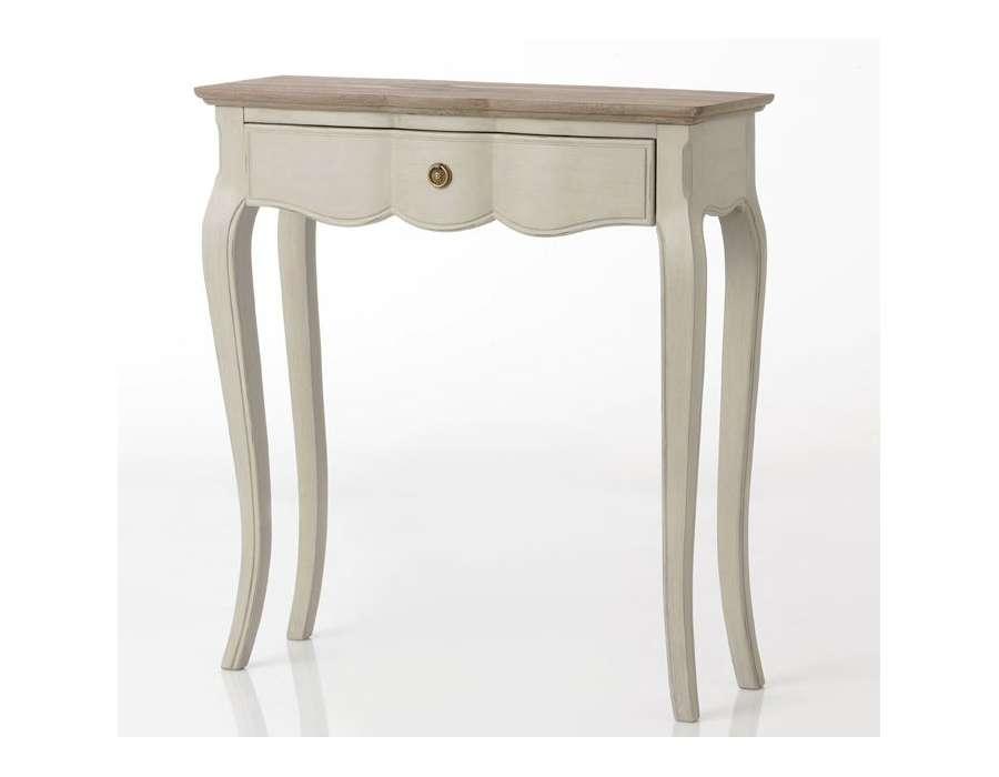 Console baroque beige grisé Maddy