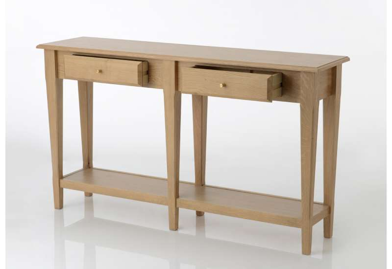 Console drapière en bois