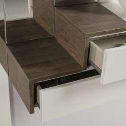 Meuble console design avec 3 miroirs