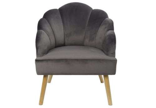 Fauteuil velours coquillage chic