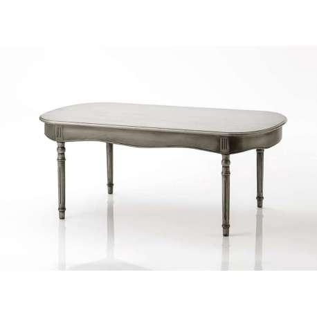 Table basse Médaillon beige grisé