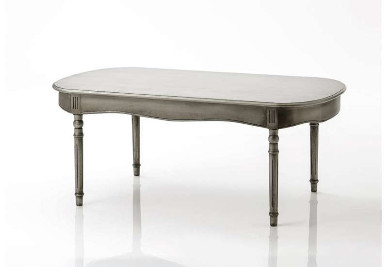 Table basse Médaillon beige grisé