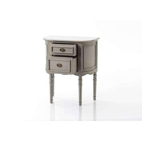 Chevet Médaillon beige grisé