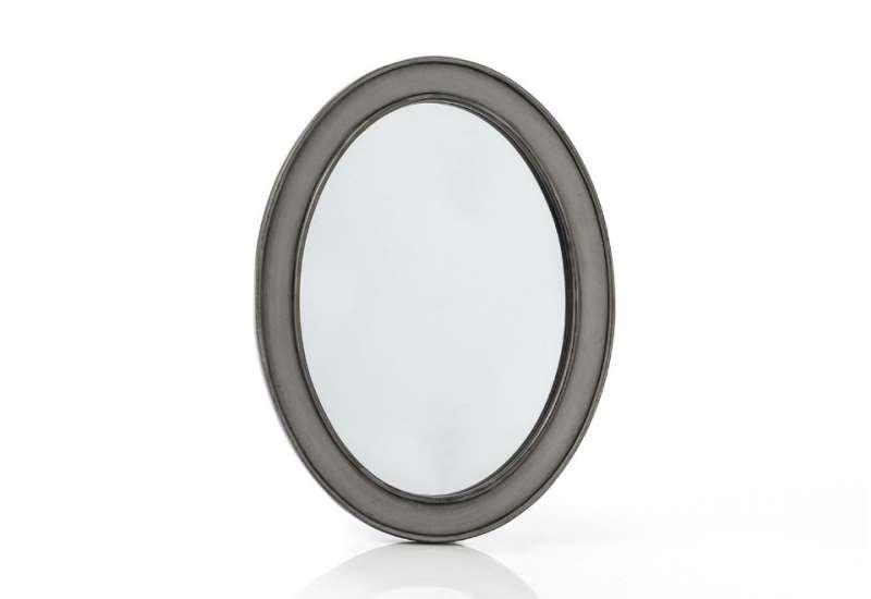 Miroir Médaillon gris