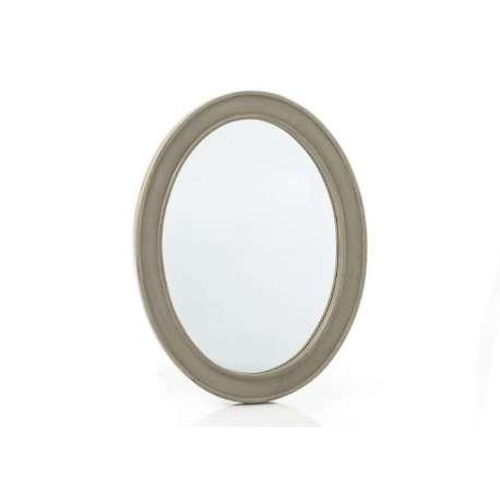 Miroir Médaillon beige grisé