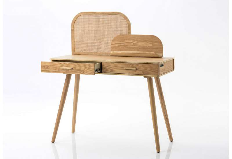Bureau frene bois naturel