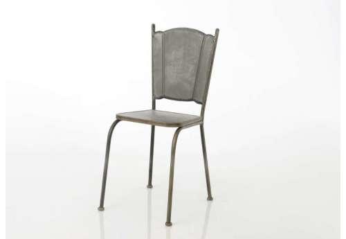 Chaise métallique vieillie Amadeus