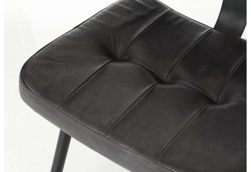 Chaise Cuir noir