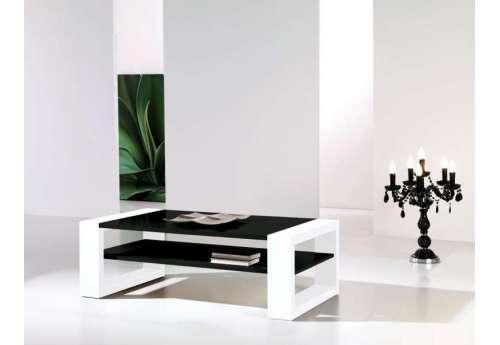 Table basse Laquée blanche et noire