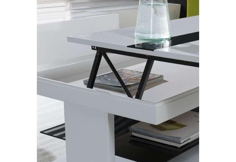 Table basse Relevable Gris et noir