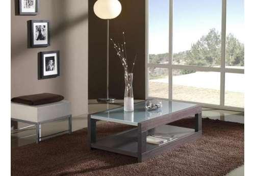 Table basse Wengé et verre
