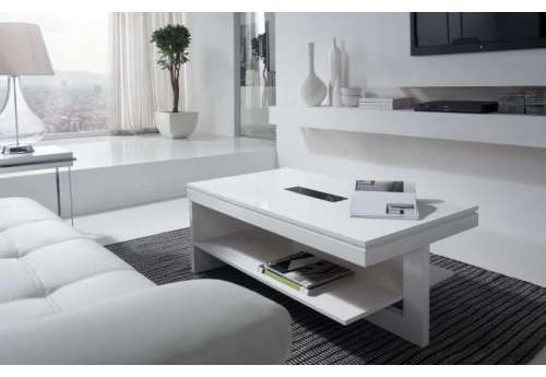 Table basse Relevable bois blanc