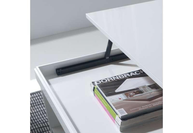 Table basse Relevable bois blanc