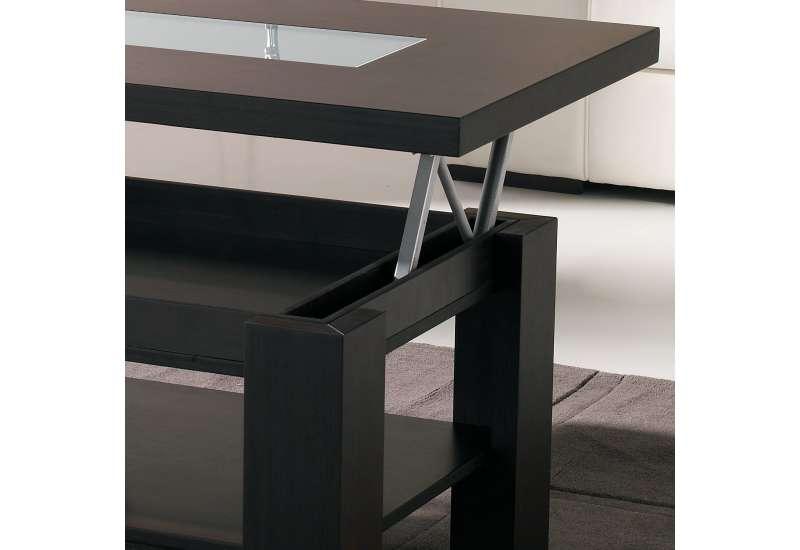 Table basse Relevable bois wengé