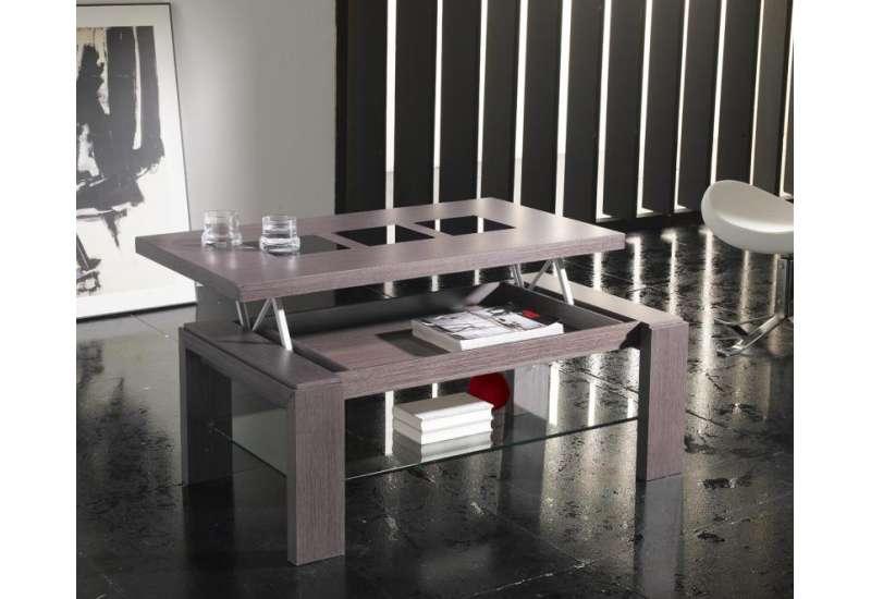 Table basse Relevable bois cendré