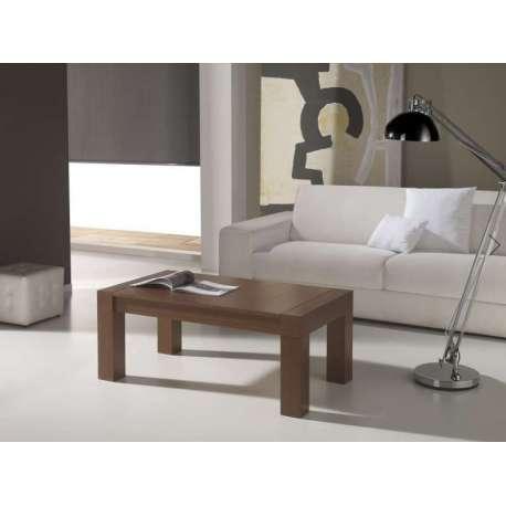 Table basse Relevable bois foncé