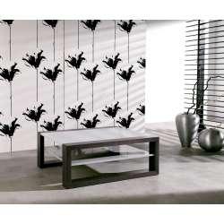 Table basse carrée Wengé et gris
