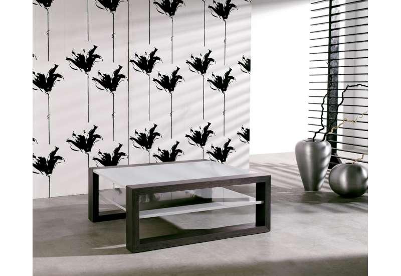 Table basse Wengé et gris