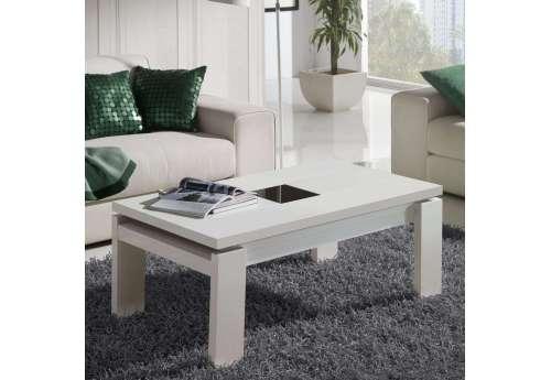 Table basse Relevable laquée blanc