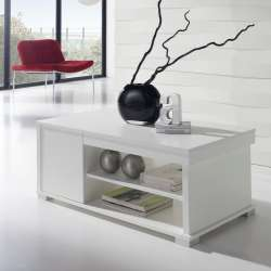Table basse Relevable Compact blanc