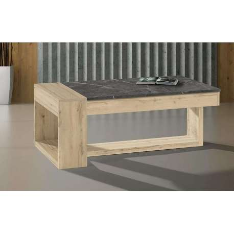 Table basse Polar bois naturel et gris