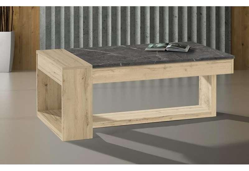 Table basse Polar bois naturel et gris
