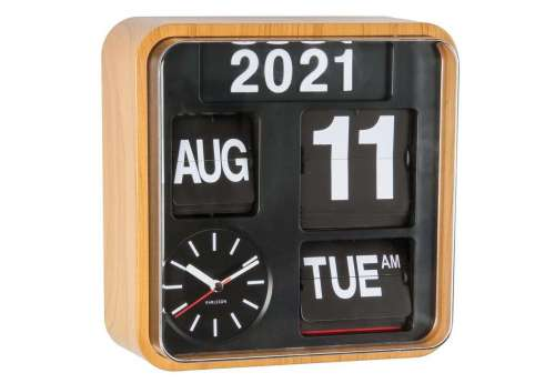 Horloge design Mini Flip Bambou
