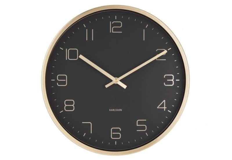 Horloge murale Karlsson or et noir