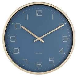 Horloge murale Karlsson or et bleu