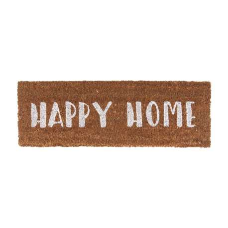 Tapis de porte Happy home blanc