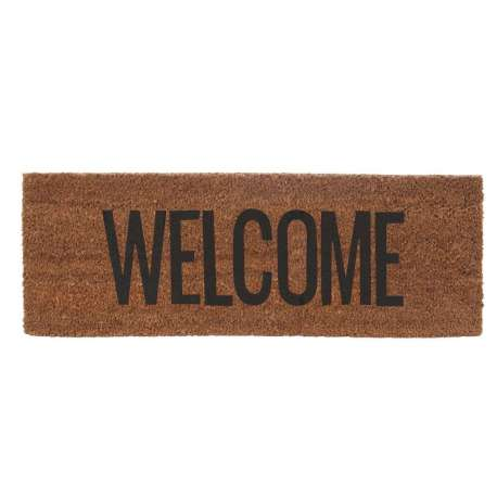 Tapis de porte Welcome noir Present time