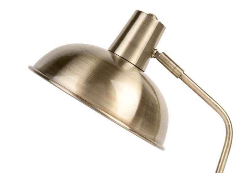 Lampe à poser Hood métal mat Or