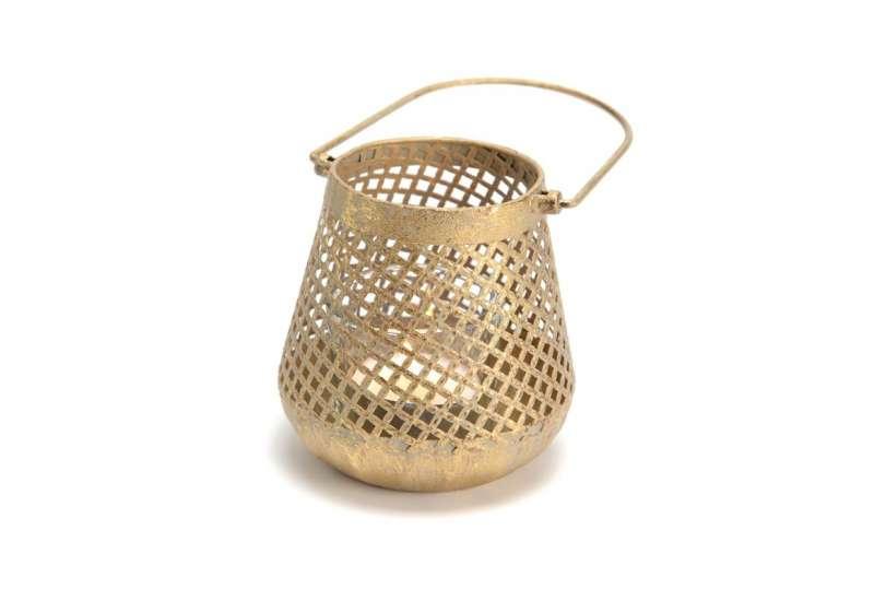 Lanterne Indienne métal patiné