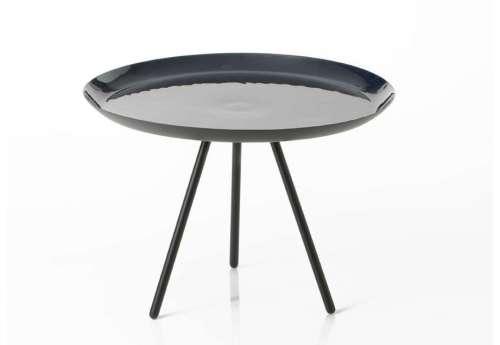 Table basse laquée bleue