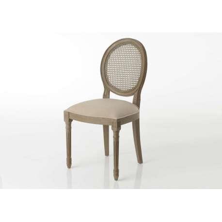 Chaise Médaillon beige