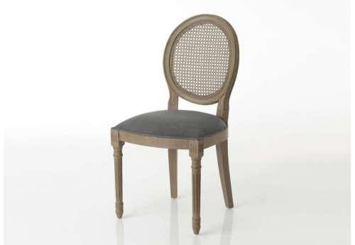 Chaise Médaillon gris