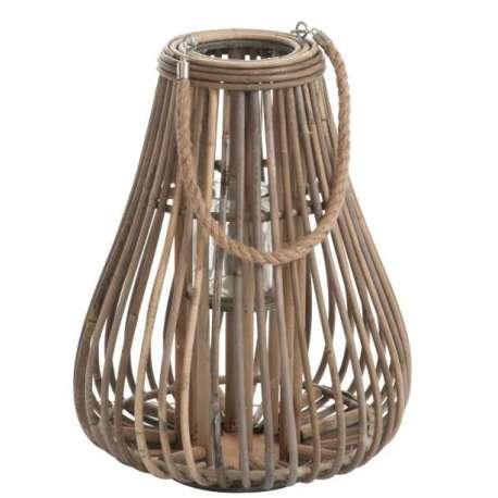 Lanterne Poire Rotin Naturel