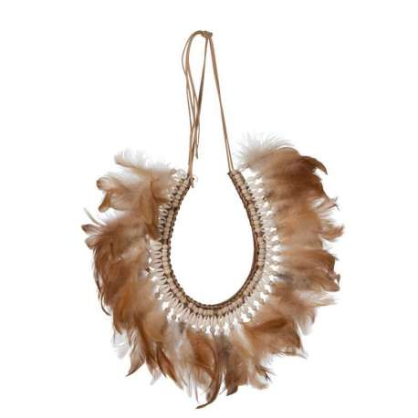 Collier Plumes/Coquillages Boho