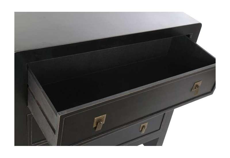 Commode à 3 tiroirs noir , style oriental et asiatique