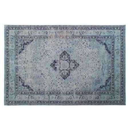 Tapis en coton bleu vieilli 200*290 cm