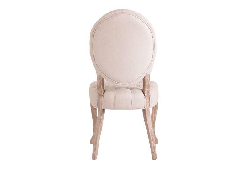 Chaise capitonnée lin galbée