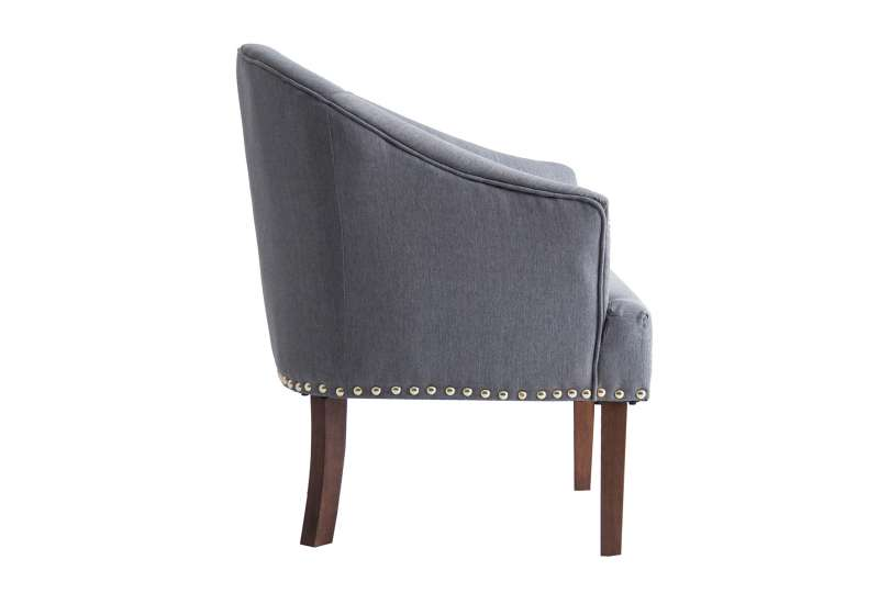 Fauteuil chauffeuse taupe chiné moderne