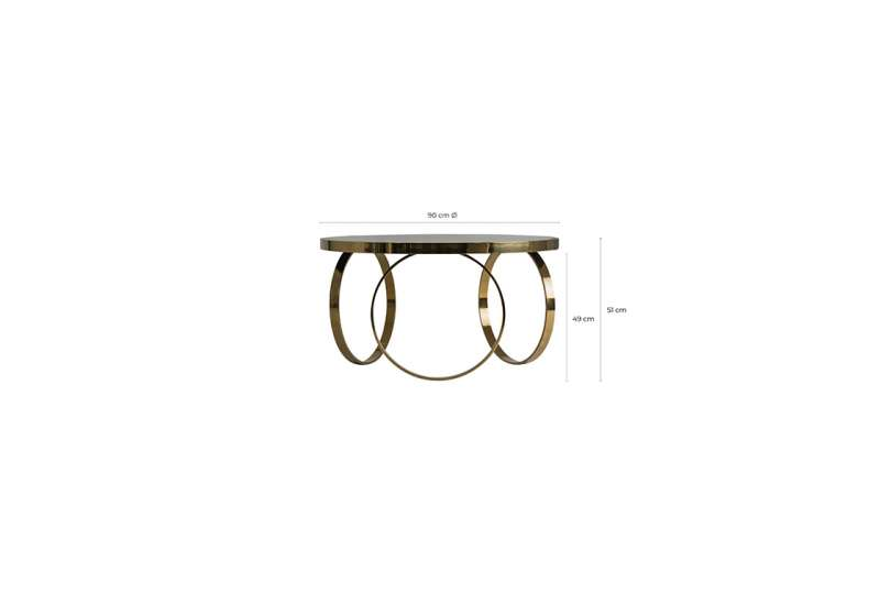 Table basse ronde anneaux