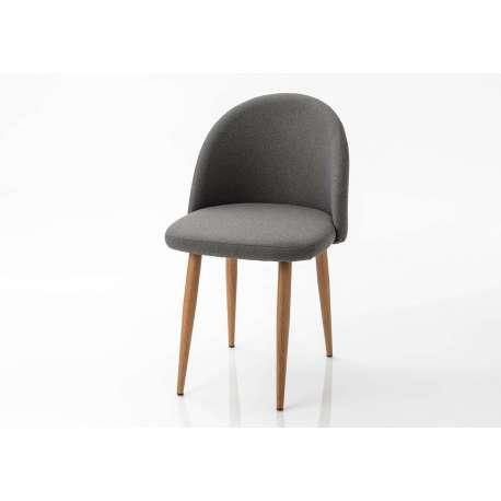 Chaise tissu gris foncé Amadeus
