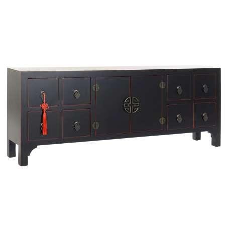 Meuble TV sapin oriental noir